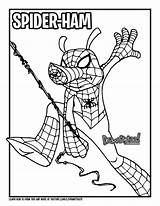 Spider Ham Draw Marvel Coloring Comics Drawing Verse Colouring Too Drawittoo Spiderman Peter Porker Tutorial Characters Making sketch template