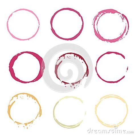 dirigez les cercles de tache de vin et blanc de couleur illustration de vecteur image