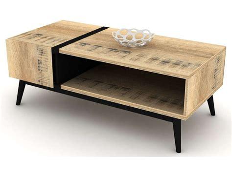 table basse ethnica coloris gris noir conforama pickture