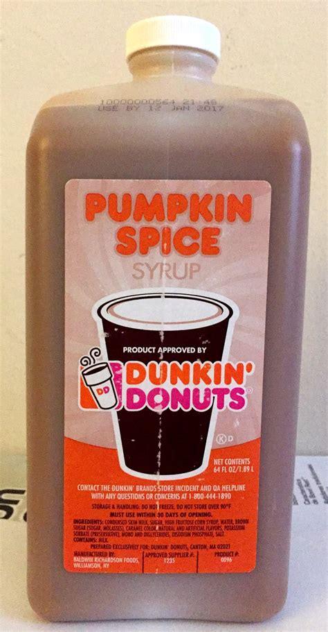Dunkin Donuts Pumpkin Spice Swirl Syrup dunkin donuts pumpkin spice swirl syrup 64oz jug with no
