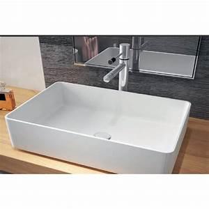 Mineralguss Waschbecken Reinigen : mineralguss aufsatzwaschbecken minimal 580x370x130mm 25 ~ Lizthompson.info Haus und Dekorationen