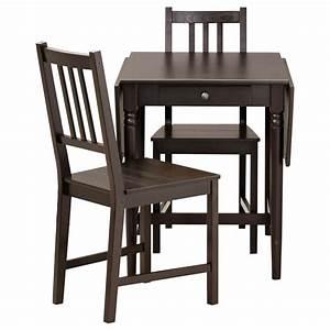 Ikea Petite Table : ingatorp stefan table and 2 chairs black brown 59 cm ikea ~ Teatrodelosmanantiales.com Idées de Décoration