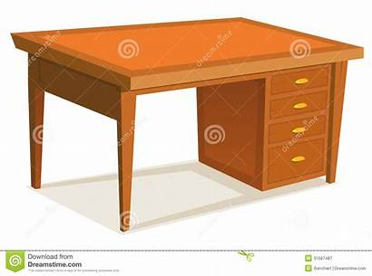 Desk Cartoon Office Schreibtisch Scrivania Karikatur Fumetto