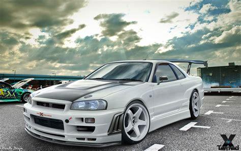 Gtr V Spec Wallpaper by Nissan Skyline R34 Gt R V Spec 2000 Nismo Nissan White