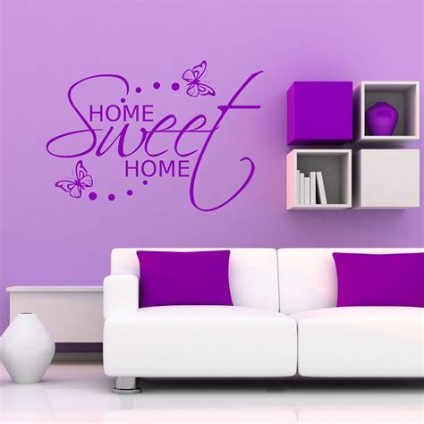 Home Sweet Home Deco by Home Sweet Home Wall Sticker Room Gift Decal Mural Transfer Sticker Deco Ebay