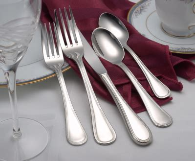 pearl flatware stainless steel   usa pc set