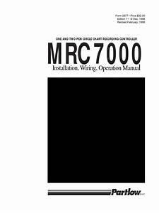 Partlow Mrc 7000 Installation  Wiring  Operational Manual