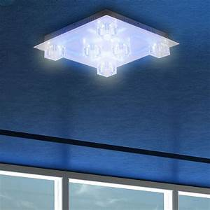 Wohnzimmer lampe deckenlampe led beleuchtung fernbedienung for Lampe wohnzimmer led