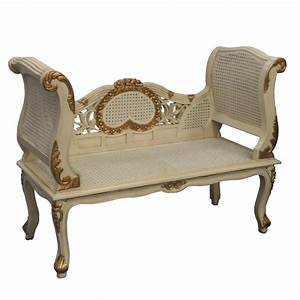 Gold, And, Cream, French, Style, Sofa