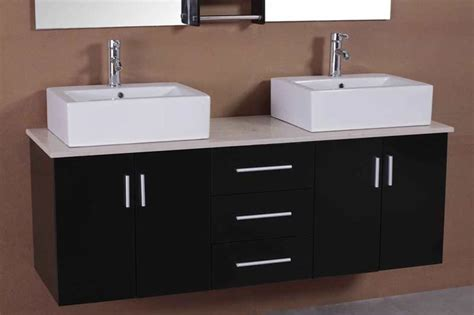 2 sink bathroom vanity adorna 61 inch contemporary double sink bathroom vanity