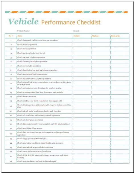automobile condition report template  ms excel formal