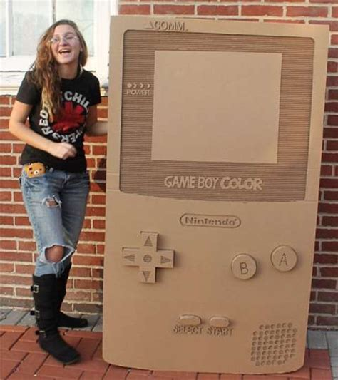 Corrugated Gamer Art Cardboard Game Boy Color