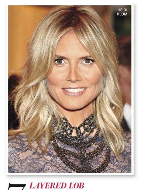 Love This Layered Lob On Heidi Klum Beauty Pinterest