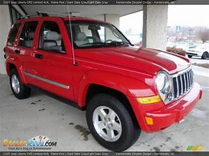 2005 Jeep Liberty Crd Limited 4x4 Flame Red    Dark Slate
