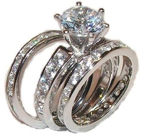 3 piece cz wedding engagement wedding ring sterling edwin earls jewelry