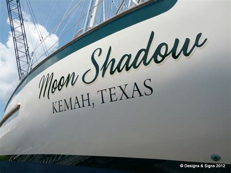 Vinyl Boat Names by Vinyl Boat Names Moon Shadow Designs Signs