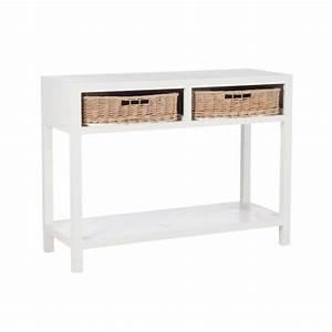 Console D Entrée Blanche : console et table d 39 entr e en bois blanc ~ Voncanada.com Idées de Décoration