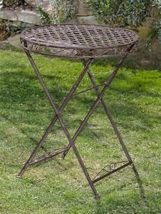 Gartentisch Metall Antik : gartentisch und 2 st hle set metall nostalgie antik stil gartenm bel braun aubaho ~ Watch28wear.com Haus und Dekorationen