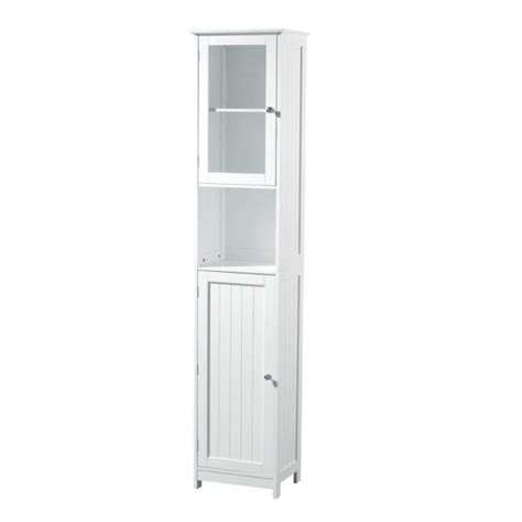 Narrow White Bathroom Floor Cabinet by Furniture Narrow White Wood Storage Cabinet With
