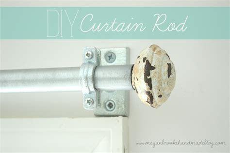 diy curtain rod how to make your own megan handmade