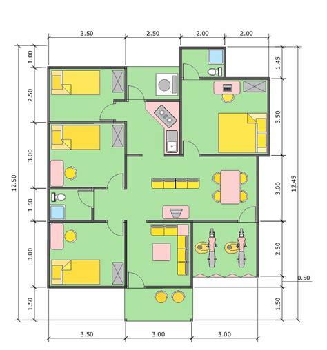 sketsa denah rumah ukuran meter kamar rumahminimalisprocom