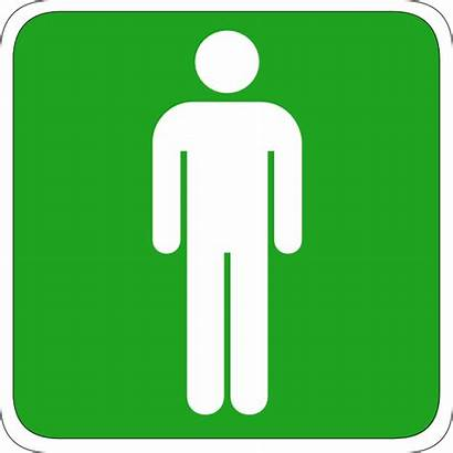 Toilet Sign Signs Clipart Male Clip Signage