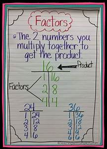 Anchor chart for factors | School | Pinterest | Anchor ...