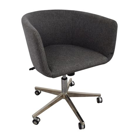 desk chair with wheels 80 off modern grey office chair with chrome wheels chairs