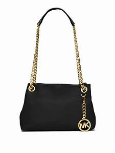 Michael michael kors Jet Set Chain Crossbody Bag in Black ...