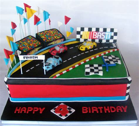 cake idea    loves racing race car cakes