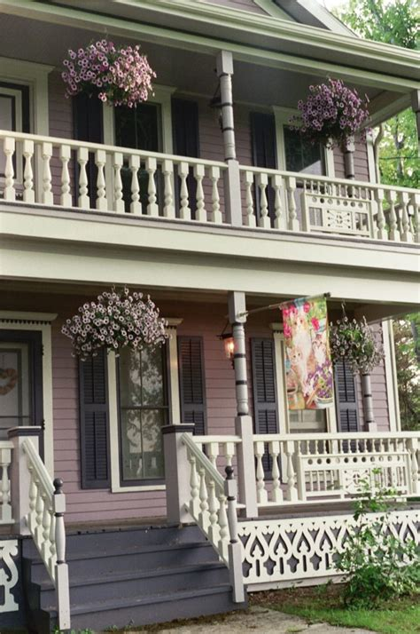 Wooden Porch Spindles by 187 Two Story Porch With Cedar Railing In Derby Ny