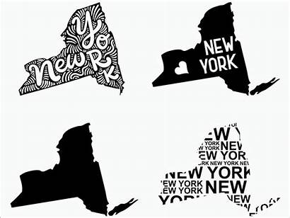 York State Svg Clipart Silhouette Cricut Decal