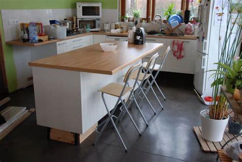 creer ilot de cuisine cuisine construction de notre maison bioclimatique