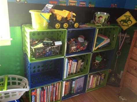 Plastic Milk Crate Bookshelf