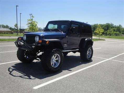 2005 jeep unlimited lifted purchase used 2005 jeep wrangler unlimited 6 5 quot lift 36