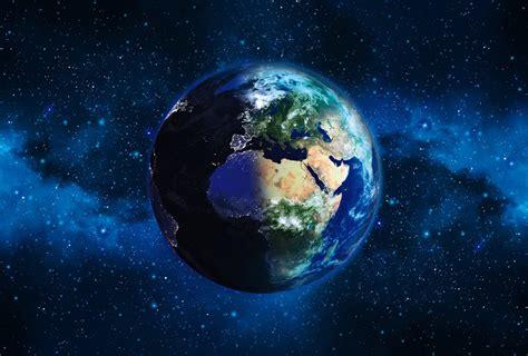 papier peint trompe l oeil pour chambre poster photo de l 39 espace panoramique planète terre dans