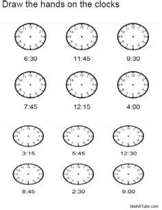 telling time printables images clock worksheets