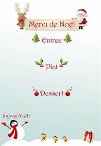 Modele De Menu A Imprimer Gratuit : menu de no l imprimer ~ Melissatoandfro.com Idées de Décoration
