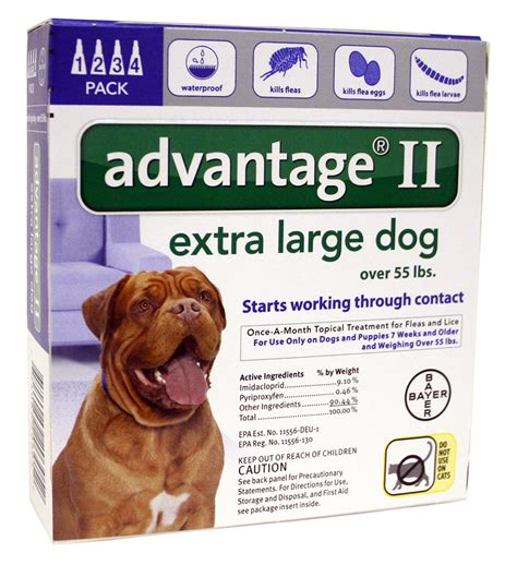 advantage ii  dogs   lbs  month supply