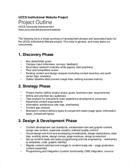 sample outline templates   ms word