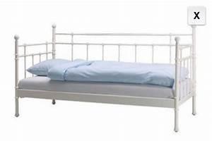 Metallbett Ikea Weiß : ikea metallbett wei 90x200 haus design ideen ~ Watch28wear.com Haus und Dekorationen