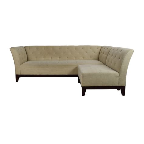 tufted sectional sofa with chaise tufted chaise sofa thesofa