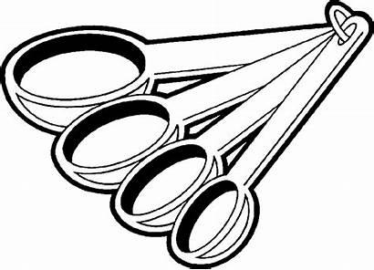 Clip Spoon Bowl Mixing Clipart Cooking Measurement