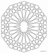 Coloring Geometric Pages Shapes Printable sketch template