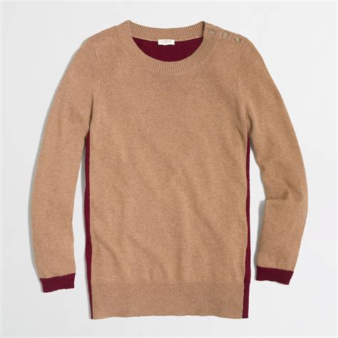 patch sweater j crew colorblock patch sweater in lyst