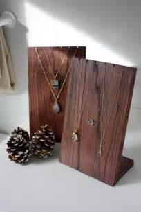 Handmade Wooden Necklace Display Stand