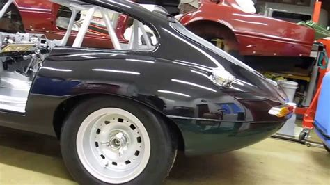 Jaguar E-type Race Car, Wide Body, Engine Installed