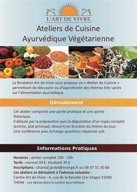 atelier de cuisine toulouse atelier de cuisine ayurvédique végétarienne de vivre
