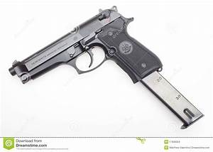 Handgun With Extended Magazine Editorial Stock Image ...  Extended