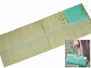 Natte De Plage Gifi : natte de plage pliante jonc 167 x 60 cm personnalisable ~ Preciouscoupons.com Idées de Décoration